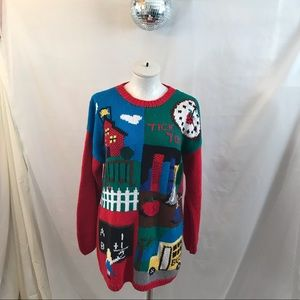 Vintage 80s 90s School Teacher Bus Ugly Sweater 💞